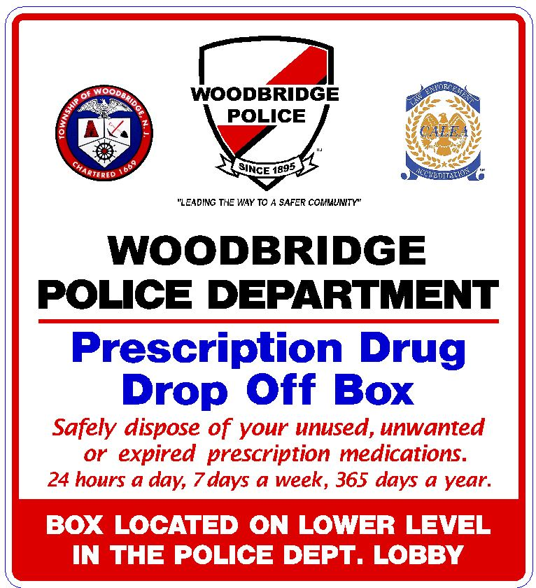 Woodbridge Police Department Prescription Druge Drop Off Box
