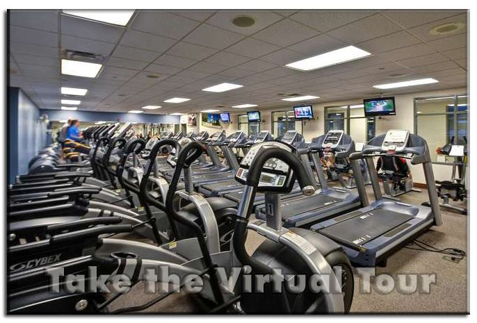 Cardio section of the gym