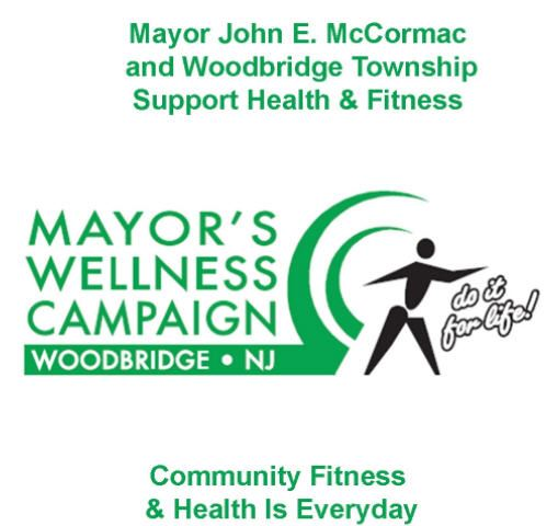 "Mayor Wellness Logo ""Mayor John E. McCormac and Woodbridge Township Support Health and Fitness&#3"