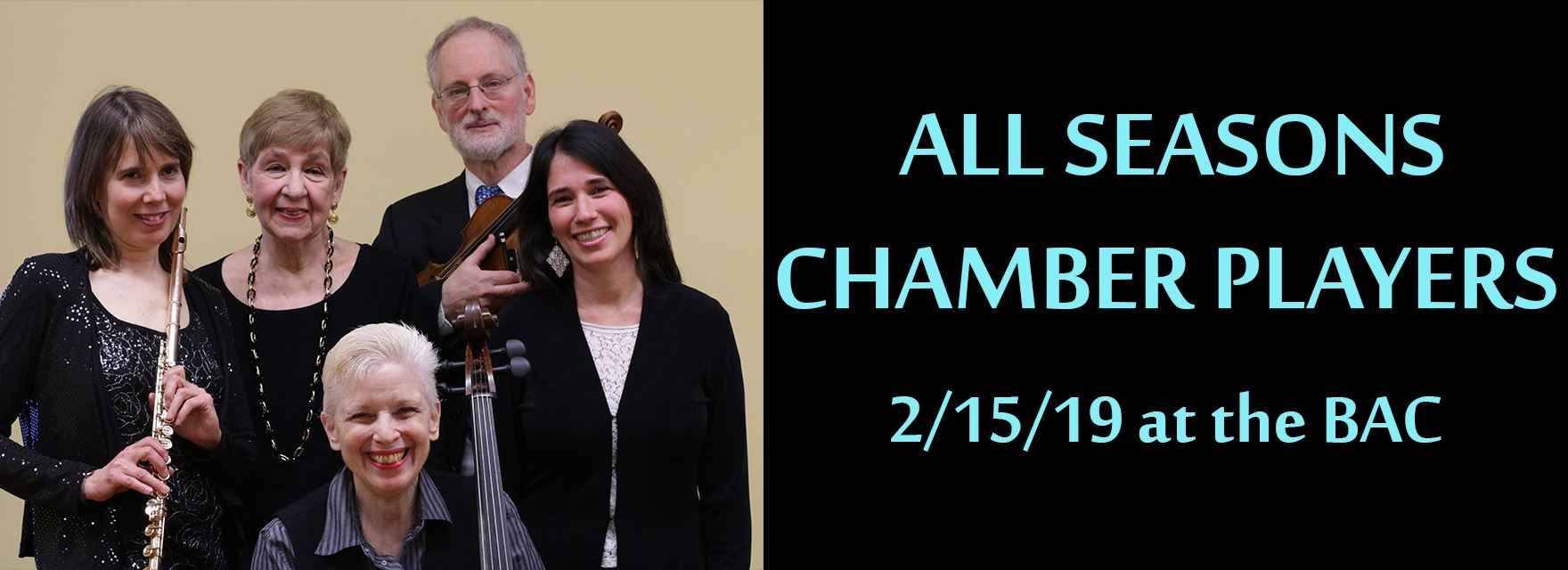 Concert: All Seasons Chamber Players 2/15/2019